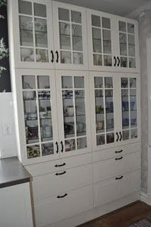 love white with dark cabinetry