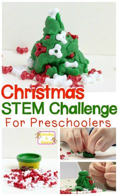 If you love Christmas, then you'll love these STEM experiments using just red and white beads and green play dough. So fun even for young Christmas lovers!