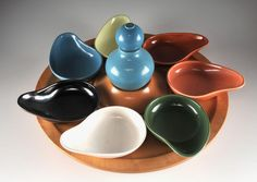 Eva Zeisel for Town and Country Lazy Susan Set - Winning Bid $465