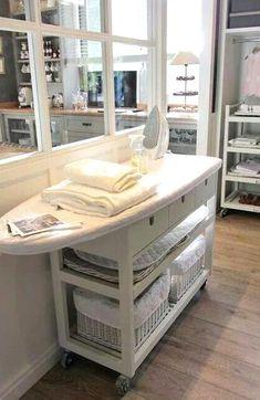 Sewing Room Storage, Laundry Room Storage, Sewing Rooms, Laundry Organizer, Laundry Shelves, Laundry Decor, Ikea Kitchen, Kitchen Furniture, Kitchen Craft