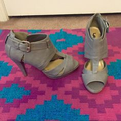 """Forever 21 Gray 4"""" Heels Purchased from Forever 21. Never worn. Original tags on bottom. Forever 21 Shoes Heels"""
