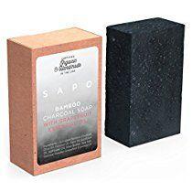 [USA] SAPO Bamboo Charcoal Soap Bar-Natural US Handmade