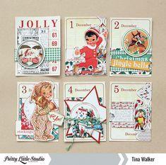 Advent Calendar » Pretty Little Studio  Love it! Ana again, easily adaptable for #decdaily