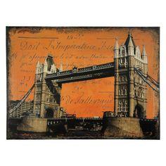Oriental Furniture London Bridge Canvas Wall Art - CV-ART-BRIDGE