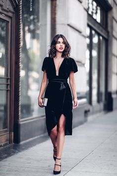 Sexy Club Velvet Dresses Women Bodycon Elegant Dress Sexy Deep V Neck Black Short Sleeve Plus Size S 2XL Formal Summer Dress-in Dresses from Women's Clothing & Accessories on Aliexpress.com | Alibaba Group
