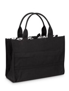 Black Tote with Black & White Damask Lining ($26)