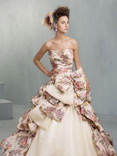 ian stuart bridal 2013 south pacific wedding dress print