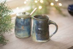 Cream and Pitcher Set from the Skyline Collection by White Hearth Pottery