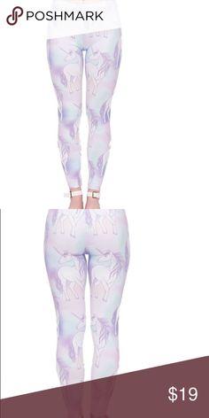 Unicorn leggings Pastel unicorn glory. The softest leggings you'll ever wear! One size fits small through large! Pants Leggings