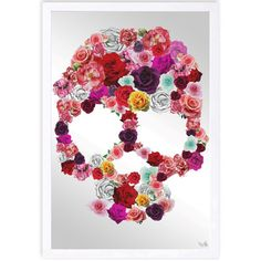 """Oliver Gal Bed of Roses Framed Mirror Wall Art Size: 24"""" H x 16"""" W"""
