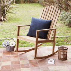 Fauteuil Rocking chair à bascule en Acacia Sari -GreenPath