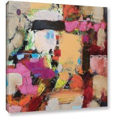 ArtWall Allan Friedlander Follies Gallery-wrapped Canvas, Size: 36 x 36, Pink