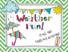 Weather-themed Math and Literacy Stations!