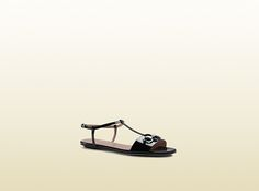 patent leather t-strap sandal