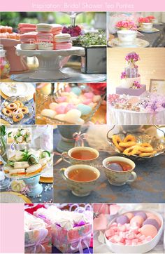 Bridal shower tea party inspiration from Bellenza. #teapartyideas #bridalshowers