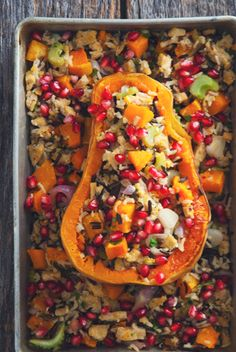 Try this stuffed butternut squash recipe today. This recipe is full of vitamins and nutrients. Eat healthy with this great recipe today. #butternutsquash #bingbing #foodporn http://livedan330.com/2014/11/07/stuffed-butternut-squash/