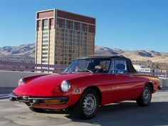 1973 Alfa Romeo Spider Convertible Maintenance/restoration of old/vintage vehicles: the material for new cogs/casters/gears/pads could be cast polyamide which I (Cast polyamide) can produce. My contact: tatjana.alic@windowslive.com