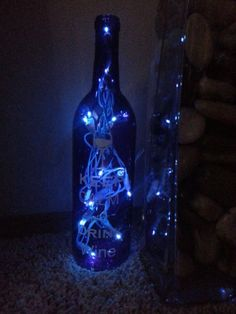 Keep Calm and Drink Wine Bottle Light by CraftyMcCoy on Etsy, $20.00