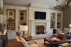Built-Ins - traditional - living room - nashville - by Wildwood Cabinetry