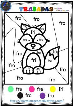 Speech Language Pathology, Speech And Language, Spanish Classroom Posters, School Tool, Preschool Worksheets, Home Schooling, Teaching Spanish, Just Kidding, Phonics