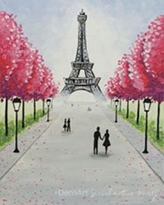Social Artworking Canvas Painting Design - Eiffel Tower