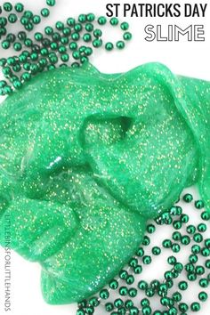 Make St Patricks Day slime for a themed science activity and great sensory play too. Our easy, homemade slime recipe is simple to follow and makes cool slime. Slime is fun sensory play for preschool, kindergarten, and grade school kids. Kids can make slime for a cool science project.