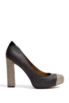 Black Stardust Glitter Frances Court Shoes by Sam Edelman