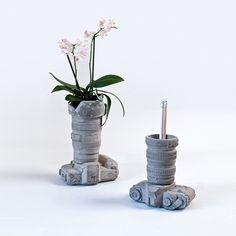 Seletti - Concrete Camera Pot - Design 2