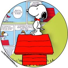 Rótulo Tubetes, Latinhas e Toppers Snoopy: