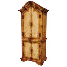 *French Cathedral Scroll Armoire   BelleEscape.com