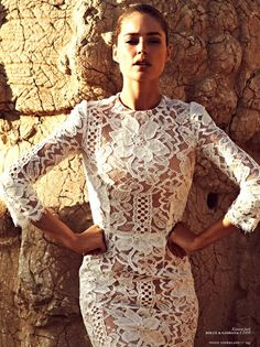 Lacey White Laced Fashion of Magnificence on that Gorgeous VS Celebrity Fashion Star!