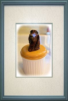 Hand built Irish Setter on a jar $250