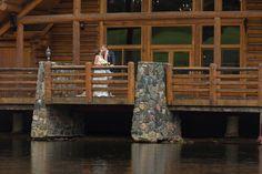 evergreen lake house wedding outdoor
