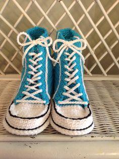 Houseshoe Slipper Sneakers by KnettasKnits on Etsy