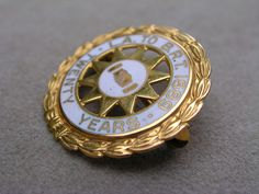 VINTAGE 10K GOLD ENAMEL L.A TO B.R.T. 1889 PIN- BROTHERHOOD OF RAILROAD TRAINMAN picclick.com