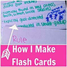 Love this! How to make your flashcards look bright and pretty (and effective). Need to try this! Might actually make you WANT to study! :)