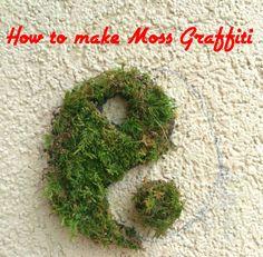 27 Best ideas for diy garden art moss graffiti Moss Graffiti, Graffiti Wall Art, Moss Garden, Garden Art, Bali Garden, Bonsai Garden, Permaculture, Moss Paint, Moss Letters