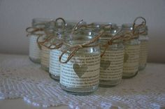 Rustic glass jars