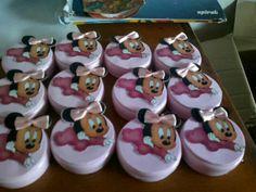 Festa de 1 aninho Beatriz e Stephanie Minnie Latinha rosa