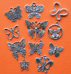 Butterfly Charm Collection Antique Tibetan by BohemianFindings, $3.95