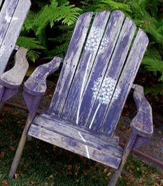Stenciled Adirondack Chairs