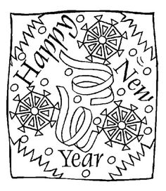 new years coloring pages - Google Search