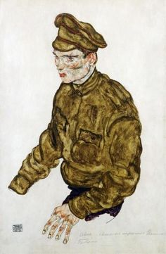 Russian Prisioner Of War by Egon Schiele