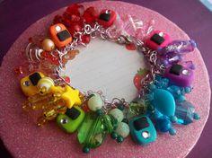 Rainbow iPod Charm Bracelet by KillWaqar on Etsy, $30.00