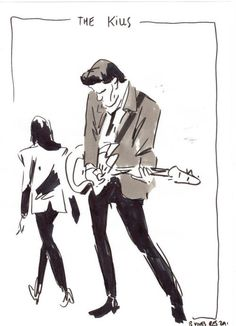 The Kills at Rock en Seine by Bastien Vives