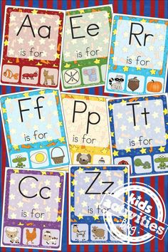 We LOVE to play with our letters with these free kids printable Alphabet Phonics Clip Cards!  Do you love to play with your letters, too? Free Kids Printa alphabet, Kids Activities (by Age), Kindergarten Activities, Learning Together, Preschool Activities, Toddlers Activities alphabet, Flash Cards, phonics #Toddlerphonics