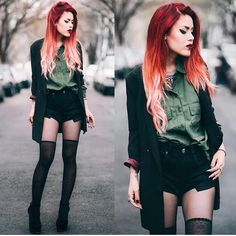 New post ❤️ See more and shop the look on le-happy Grunge Outfits, Punk Outfits, Grunge Fashion, Cool Outfits, Fashion Outfits, Womens Fashion, Nerd Fashion, Fall Fashion, Estilo Rock