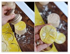 Excited to try out the corzetti stamp I got for Christmas! here's a how to for making corzetti, coin shaped pasta, and a recipe for corzetti with parmesan, pine nuts, and herbs