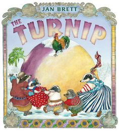 The Turnip : This is another book that will have readers looking forward to a cozy winter. A retelling of a Russian story, The Turnip follows a family of well-dressed badgers as they attempt to unearth a gigantic turnip. The vegetable would provide many delicious meals throughout the chilly season for this family, but it refuses to budge from the frozen ground. But perhaps with the help of a few friends (a rooster, a family of bears, a horse) they can all get exactly what they want.