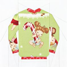 The Original Ugly Christmas Sweater Block - 6 inch and 10 inch PDF Paper Piecing Pattern Paper Piecing Patterns, Quilt Patterns, Sweater Quilt, Christmas Sewing, Christmas Ideas, Christmas Quilting, Christmas Stuff, Christmas Projects, Foundation Paper Piecing